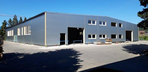 Výstavba nové výrobní haly